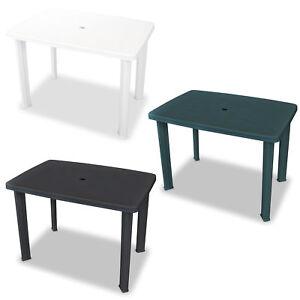 Détails sur vidaXL Table de Jardin Plastique Multicolore Table à Manger  Terrasse Patio