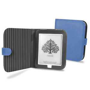 Cover-Up-Barnes-amp-Noble-Nook-GlowLight-eReader-Cover-Case-Book-Style-Blue