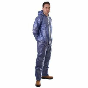 1-X-OVERALL-COVERALLS-PROTECTIVE-DISPOSABLE-PAPER-SUIT-PAINTING-BIOHAZARD