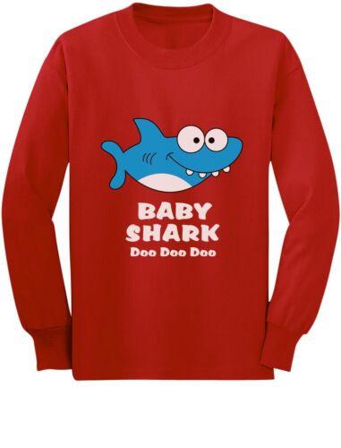 Baby Shark Doo doo doo Song Family Dance Toddler//Kids Long sleeve T-Shirt Cute
