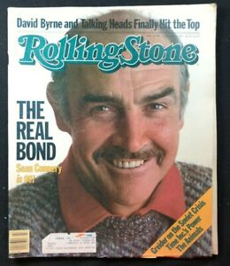 ROLLING STONE - Oct 1983 - SEAN CONNERY James Bond / The Animals / Talking Heads