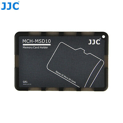 "JJC 0.1"" UltraSlim Credit Card size Memory Card Holder for 10 Micro SD MSD Cards"