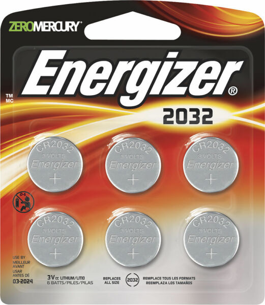 100% Waar Energizer - Cr2032 Batteries (6-pack) - Silver New 1 Per Ad
