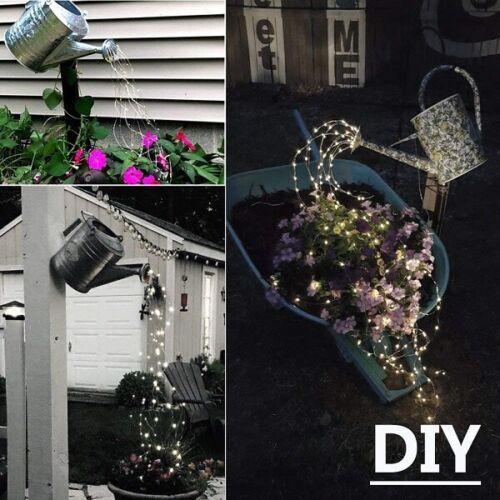 Outdoor Solar String Light Waterfall Waterproof for Christmas Garden Decoration