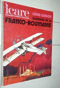 souvenirs de la franco-roumanie louis guidon Icare,n°73