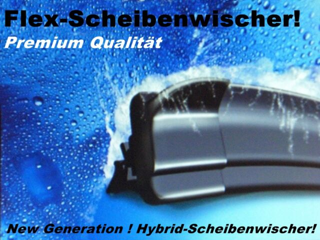 2 X Hybrid- Scheibenwischer Flachbalkenwischer Neuheit für VW Polo 2 und 3 (6N)