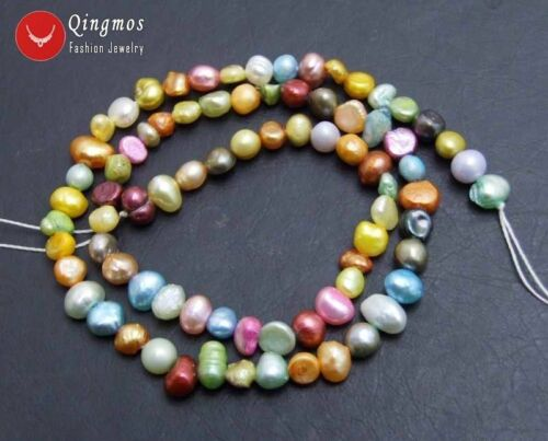 4-5mm Multicolor Baroque Natural Pearl Loose Beads Jewelry Making Strand 14/'/'