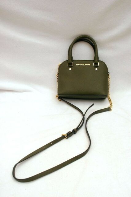 2d440ec66dbb NWT Michael Kors Cindy Saffiano Leather XSmall Top Handle Crossbody Olive