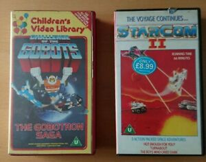2-x-Animated-VHS-Videos-Challenge-Of-The-Gobots-The-Gobotron-Saga-Star-Com-2