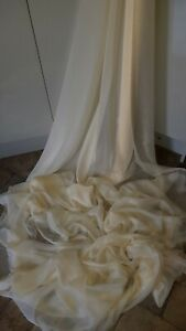 "5M SHIMMER TWO TONE GREEN  DRESS soft flawey CHIFFON FABRIC 58/"" WIDE"