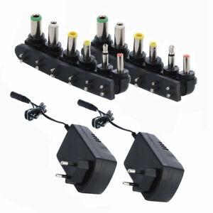 2X-Universal-EU-Stecker-AC-DC-Netzgeraet-3A-Netzteil-Adapter-Ersatzstecker-3-12V