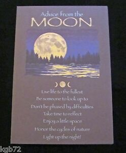 Details about Leanin Tree Birthday Greeting Card Advice From The Moon Multi  Color R105