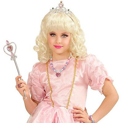 35d9e1ec9a06bc Details about New Girl's Princess Blonde Wig Fancy Dress Costume Accessory
