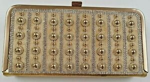 Women-039-s-Wristlet-Gold-Clutch-Purse-Designer-Detailed-Wallet-Ladies-Girls-Purses