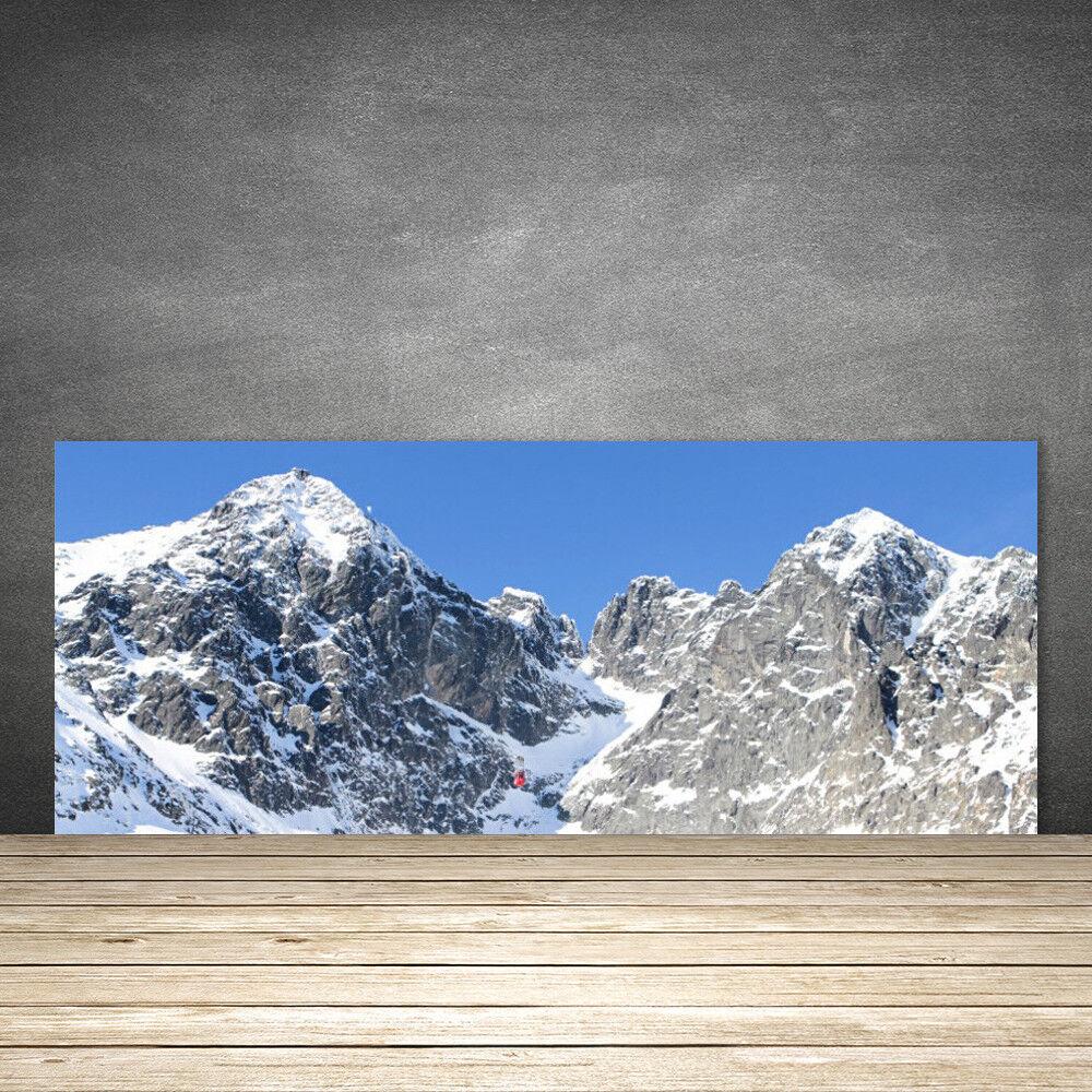 Crédence de cuisine en verre Panneau 125x50 Paysage Neige Montagne
