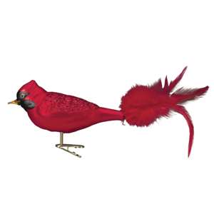 Old-World-Christmas-LARGE-RED-CARDINAL-18009-N-Glass-Ornament-w-OWC-Box