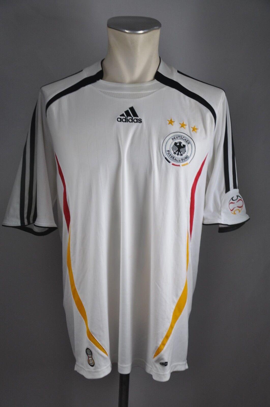 Deutschland Trikot 2006 Gr. L DFB Adidas white WM Jersey Home EM Germany