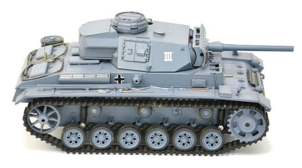 Heng Long radio control RC Panzer iii Tank 1 16 BB Shoot Smoke Sound 2.4G UK