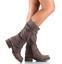 Womens-Zipper-Buckle-Mid-Calf-Boots-Vintage-Buckle-Sz35-43-Combat-Vintage-Shoes thumbnail 4