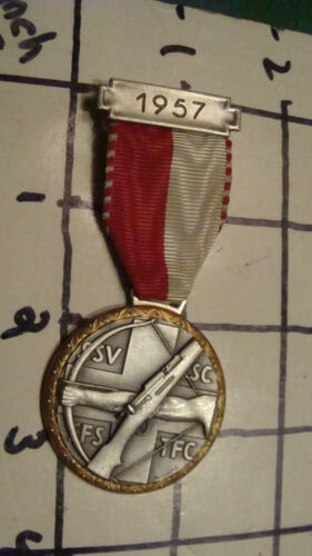 Original Vintage SWISS SHOTTING MEDAL 1957 S.S.V.S.S.C. by HUGUEMIN