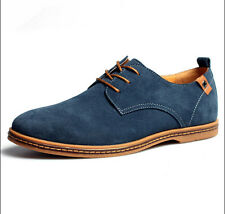 8be5656498e3 2017 New Mens Casual Dress Formal Oxfords Flats Shoes Genuine Suede Leather