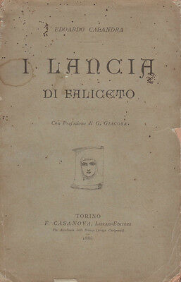 Calandra I Lancia di Faliceto Casanova 1886 Giacosa