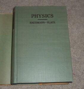 1946 PHYSICS Erich Hausmann Edgar Slack w/ Answers VAN NOSTRAND