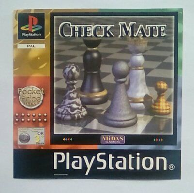 ***front Inlay Only*** Check Mate Checkmate Inlay Playstation One 1 Psone Ps1 Ps