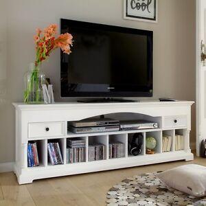 Mougins White Tv Stand Media Storage Unit Ebay