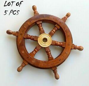 Antique Wooden Ship Wheel Home Decor