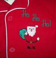 Skyr Red Lightweight Fleece Pajama Set 6 Boys Santa Claus Xmas Ho Green Soft