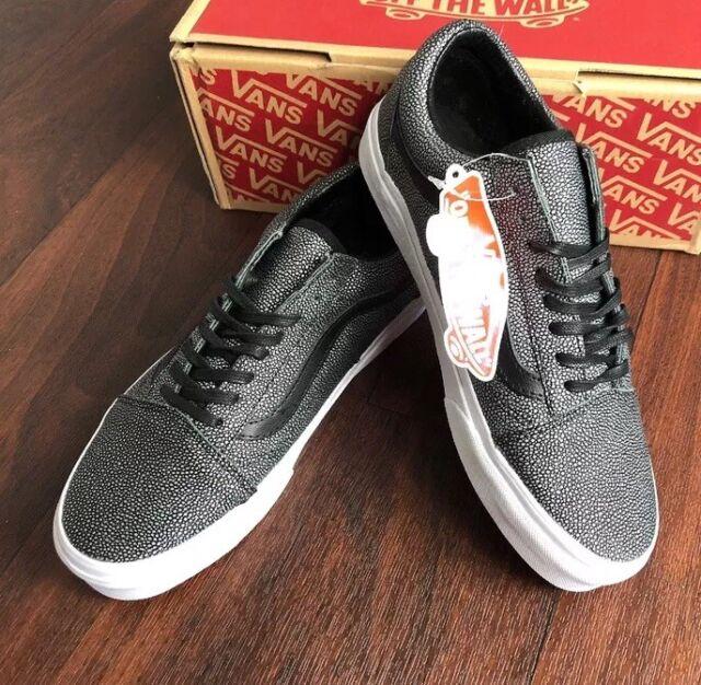 c0a592d007fb36 VANS SNEAKERS Low Shoes Summer Shoe Grey Pattern Old Skool Lacing 38 ...