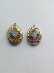 ANTIQUE VICTORIAN GOLD EARRINGS WITH OPALS AND PASTE GEMSTONES - <span itemprop='availableAtOrFrom'>London, United Kingdom</span> - ANTIQUE VICTORIAN GOLD EARRINGS WITH OPALS AND PASTE GEMSTONES - <span itemprop='availableAtOrFrom'>London, United Kingdom</span>