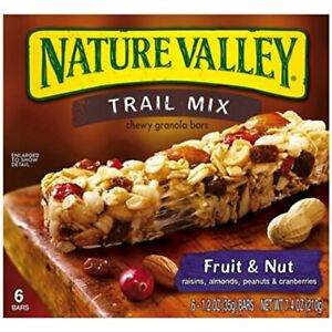 Nature Valley Fruit and Nut Trail Mix Chewy Granola Bars, 2 Boxes March & May