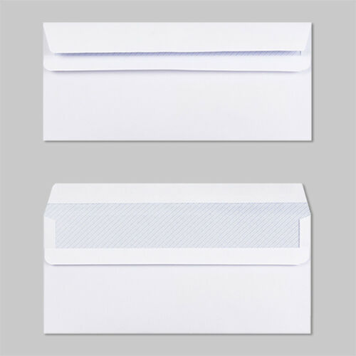 High Quality White Self Seal Plain//Window Envelopes DL Size 90gsm Strong Paper