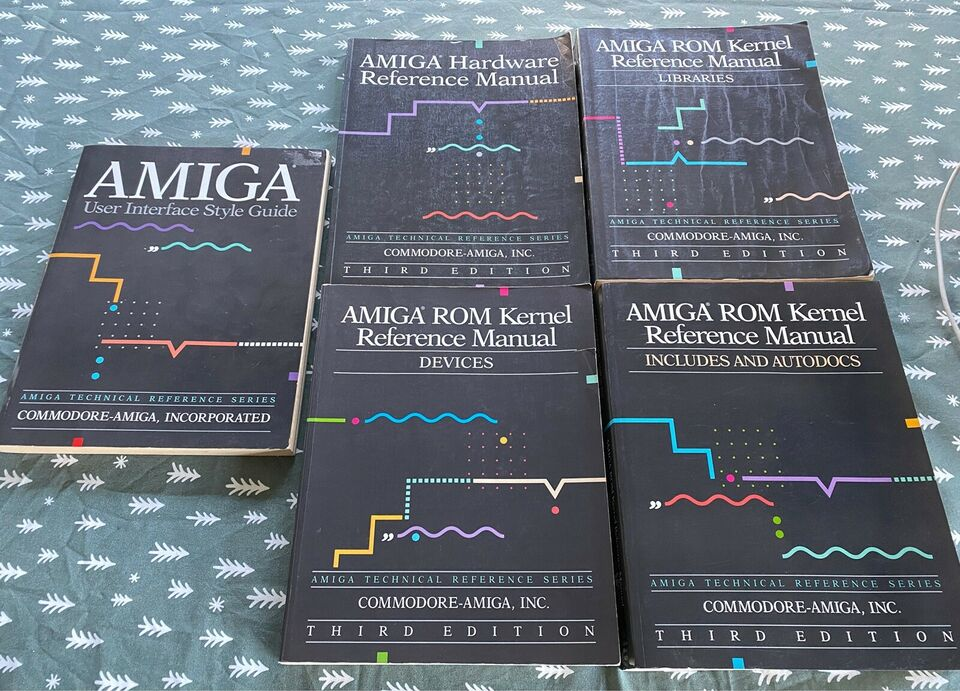 Amiga reference manualer, Manualer