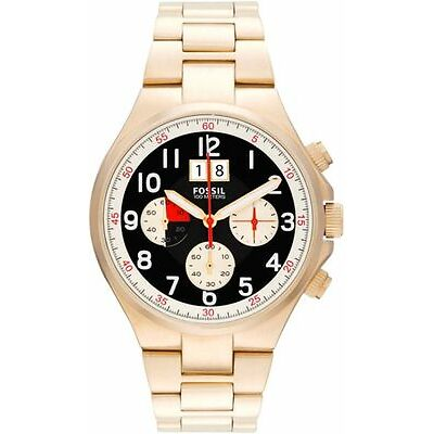 MENS BRAND NEW FOSSIL GOLD QUALIFER CHRONOGRAPH WATCH CH2911