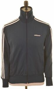 ADIDAS-Mens-Tracksuit-Top-Jacket-Small-Navy-Blue-Polyester-HD18
