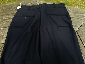Size 36 Regular Free Length Union Made in Cincinnati Vintage Paramount Navy Blue Uniform Pants Manufactured by Fechheimer in USA