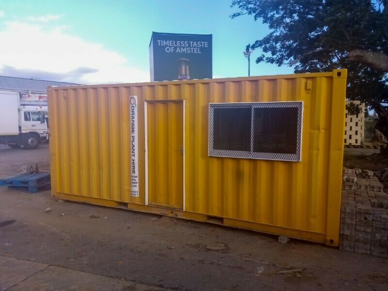 6m x 2.4m Basic Office Container Monthly Rental East London