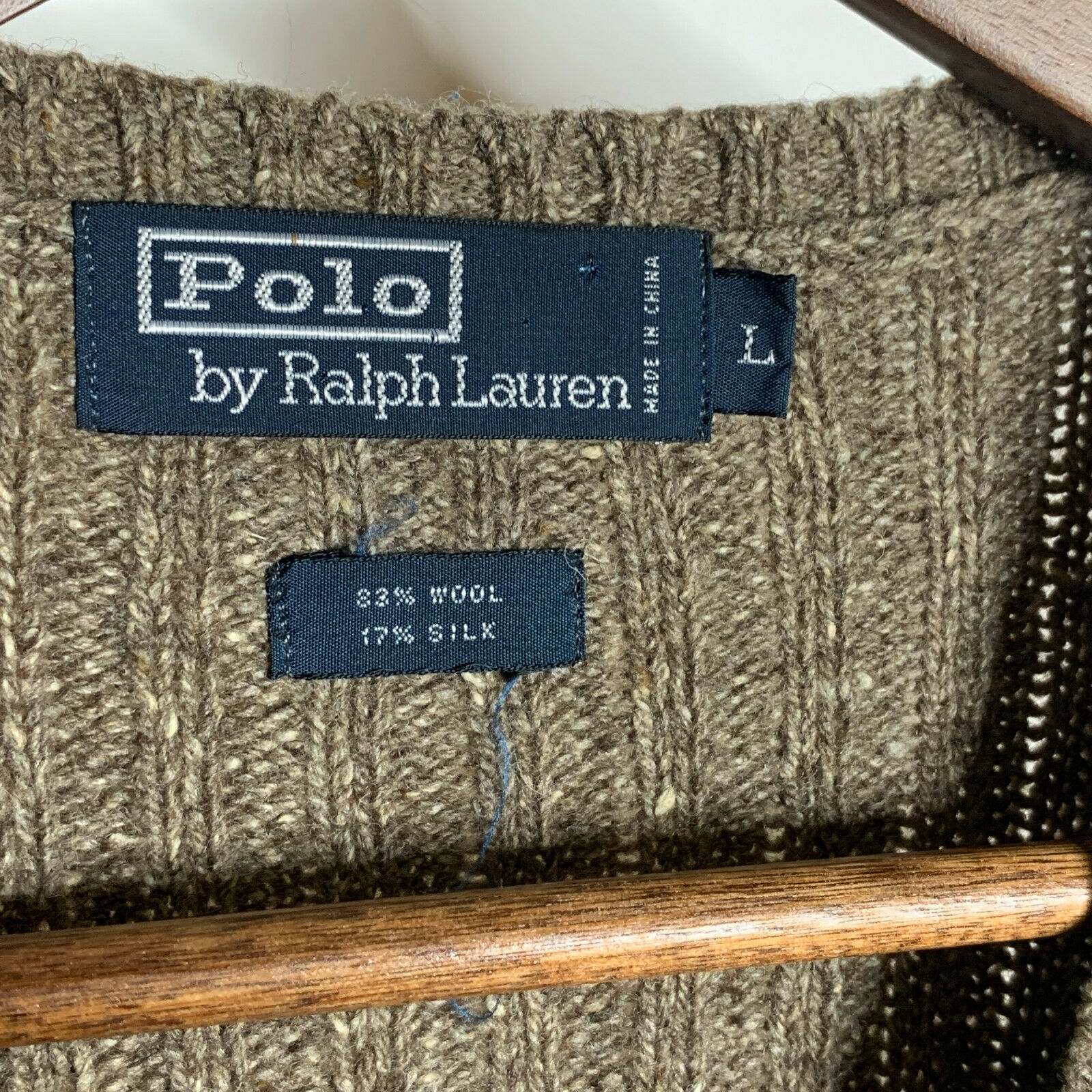 Polo by Ralph Lauren Green Plaid Sweater Vest Woo… - image 4
