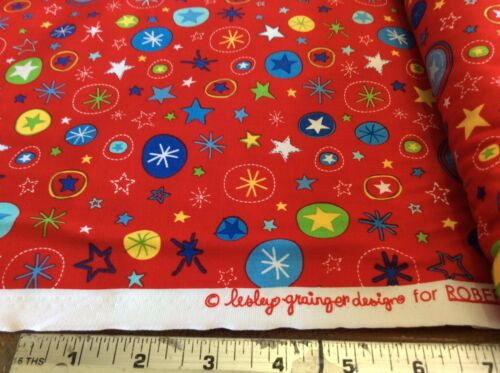 LAUNCH #12097-3 RED-STARS BY ROBERT KAUFMAN BY THE YARD