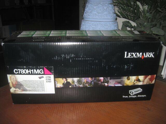 NEW SEALED! GENUINE Lexmark C780H1MG Magenta HY Toner Cartridge c780 c782 x782