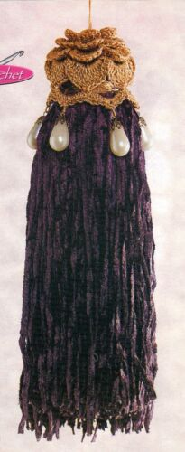 ELEGANT Chenille Tassel//Decor//Crochet Pattern INSTRUCTIONS ONLY
