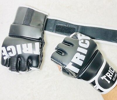 New Thai Model Boxing MMA Kickboxing Gloves Durable Synthetic Leather. TRICE