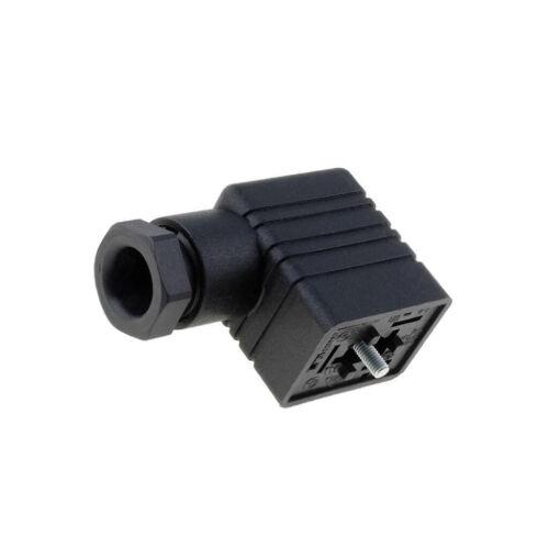 932977100 GM 209 NJ SCHWARZ Steckverbinder Ventil Stecker Format B 11mm weiblic