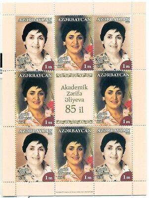 Personalities Azerbaijan 2008 Alijewa Sheetlet Stamps Asia Hearty Personalita'
