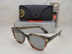 bede1dc6dde31 Ray Ban METEOR (RB2168-1254Y5 50) Grey Grad Brown Stripe w  Blue Mir ...