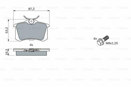 Bosch Brake Pads Set Rear Fits Skoda Octavia 1.6 TDI #1 FAST DELIVERY Mk2