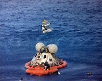 8x10 Photo: Apollo 13 Mission Astronauts In Raft After Splashdown - 1970